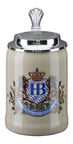 HB Hofbräuhaus München Boccale da Birra Tedesco Relief Monaco di Baviera Hofbräuhaus München HB 0,5 Litri King Werk Ki 1000057