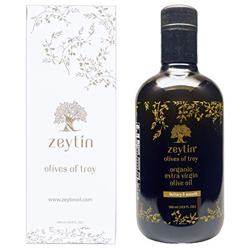 Zeytin Premium Extra Virgin Olive Oil - ORGANIC I Early-Harvest I Healthy & Clean I Cold Pressed I Single-Source I VEGAN I KETO (Buttery & Smooth, 500 ml (16.9 oz)