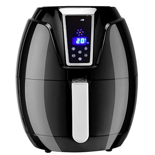COSTWAY Fritteuse Heißluftfritteuse, Heißluftofen Küchengerät, Fritöse Grill 1400 W Digitaldisplay Timer Einstellbare Temp Von 80-200°C 3, 2L