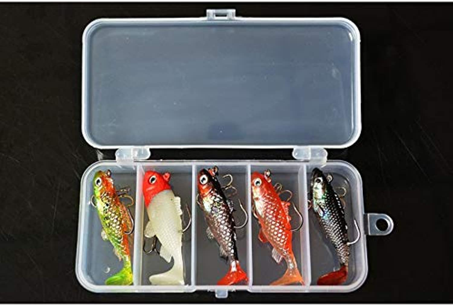 Generic Fishing Lure Kit Lead Fish 60mm 8.5g Super Cost Performance Soft Lure Bait 5 Pieces lot with Box