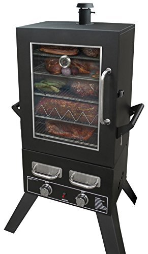 Smoke Hollow PS4415 Propane Smoker, 33' x 24.5' x 60', Black
