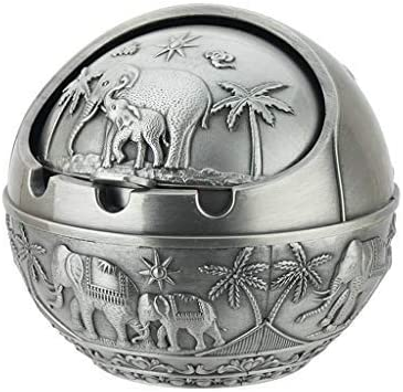 LIMEI-ZEN shipfree Ashtray with lid Elephant Creative Patterned Super popular specialty store Home