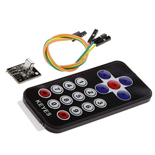 ZYElroy 2PCS IR Wireless Remote Control Sensor Keys Electronic Module Kits Set Compatible for Arduino
