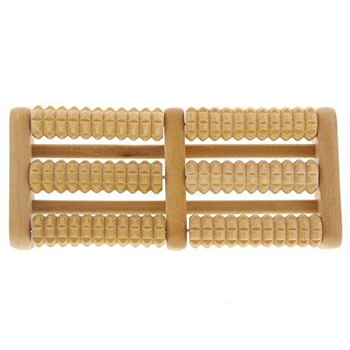 Holz Massage Kosmetex Fußroller für Fussmassage zur Anregung der Fußreflexzonen, Mittel