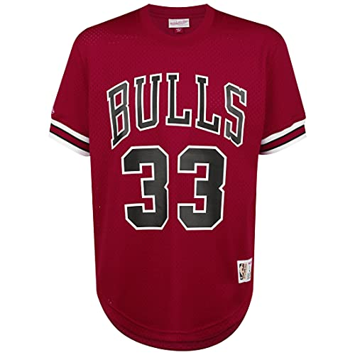 Mitchell & Ness NBA Chicago Bulls Scottie Pippen T-Shirt Herren rot/schwarz, L