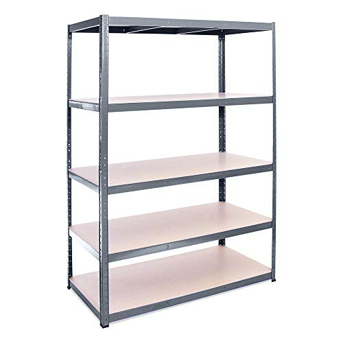 Rhino Racking 0057 Heavy Duty Stand-Alone 5 Tier Industrial Shelving Rack