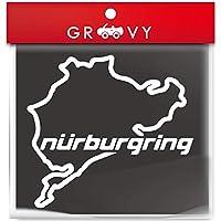 ニュルブルクリンク Nurburgring 車 ステッカー ドレスアップ デカール シール おしゃれ_1002 (ホワイト)