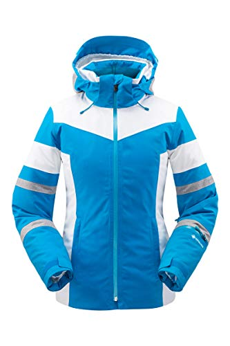 Spyder Damen Captivate Gore-Tex Skijacke - Damen Full Zip Hooded Wintermantel, Damen, Captivate Gore-tex Ski Jacket, Lagoon, 8