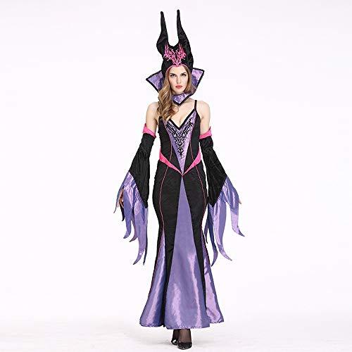 XXF Disfraz de Bruja de Halloween Reina Europea Y Americana Juegos de rol Trajes de la Etapa Uniformes de la Diversión Vestidos de Fiesta,Color de la Foto,L