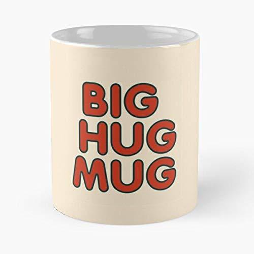Detective Hug Big True Cover - Taza de café de cerámica de 315 ml con texto en inglés 'Eat Food Bite John Best Taza de café de cerámica de 315 ml