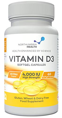 Vitamin D3 Softgel Capsule 4,000IU 60 Day Supply
