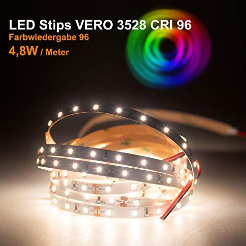 LED Streifen VERO Mextronic LED Streifen LED Band LED Strip VERO Neutralweiß (4000k) CRI 96 24W 5 Meter 24V IP20