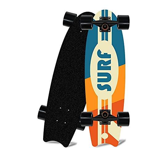 zhzhtac Carving Skateboard 7-Layer Maple Complete Board Soporte de AleacióN CX4, Adecuado para Principiantes, Adolescentes, NiñOs y NiñAs Skills Skateboarding-2