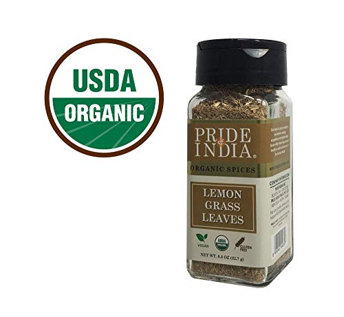 Pride Of India - Biologische Lemongrass Fine Cut & Sifted - 0.8 oz (22.7 gm) Kleine Dual Sifter Jar - Gecertificeerd puur en authentiek Indiaas kruid