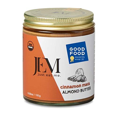 JEM Cinnamon Maca Almond Nut Butter, All Natural, Organic, Gluten-Free, Vegan, Paleo, Keto Snack, 6.52 oz Jar, Single Pack