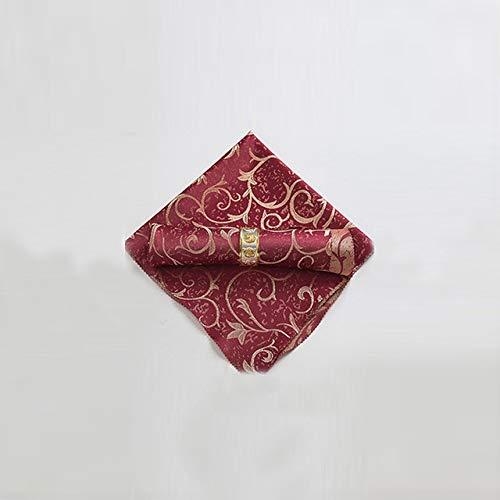 10 pièces 48 * 48 cm Serviettes de Table en Tissu Mouchoir en Tissu décoration de Table Textiles de Maison pour Mariage Anniversaire fête à la Maison