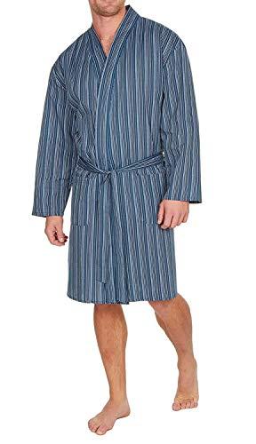Insignia Herren-Bademantel, einfarbig, gewebt, leicht, Baumwolle, Polyester Gr. XXL, Marineblau gestreift