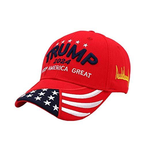 Zarome Trump 2020 Hut Keep America Great 3D Stickerei Amerikanische Flagge Donald Trump Baseball Cap consistent