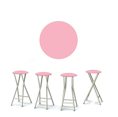 """Best of Times 13169W2503 ICE Cream Parlour 30"""" Padded Bar Stools-Set of (4), Pink White"""