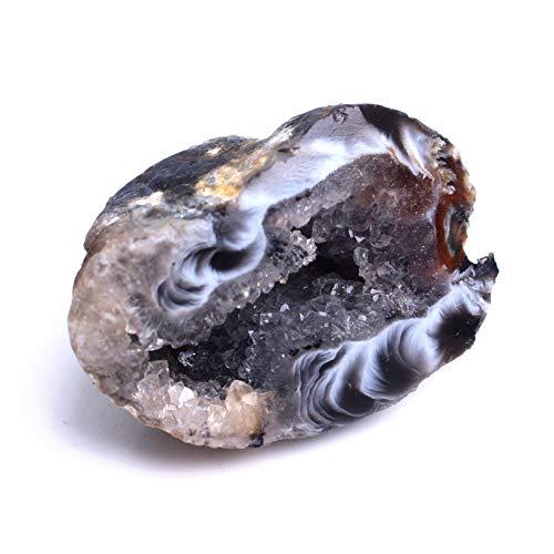 1PC Neue natürliche Achat-Kristall Geode poliert Unregelmäßige Cluster Quarz-Edelstein Füllhorn Anhänger Specimen Hochzeit Dekor (Color : Big 2pc)