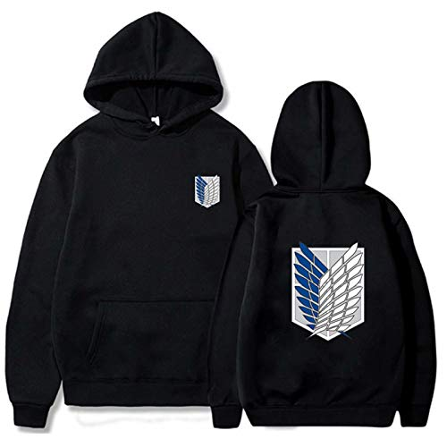 Attack on Titan Hoodie Clothes Unisex Anime Comic Attack on Titan Pullover Cosplay Costume Scout Regiment Badge Long Sleeve Tops Hooded Sweatshirt Uniform Coat Jacket for Kids Adult