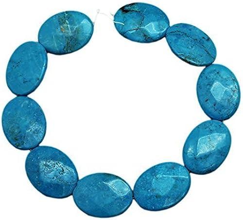 n ° 1 en línea Faceted Oval Turquoise Bead Strand (16 Inch) Inch) Inch) by Turquoise Bead Jewelry  tienda de bajo costo