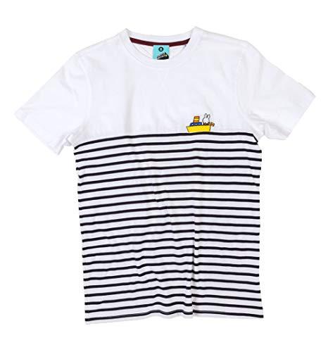 Womens Miffy Embroidered Boat Breton T Shirt White/Off White