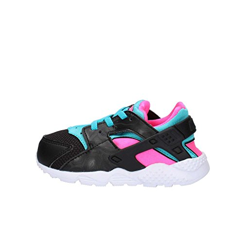 Nike Huarache Run (TD), Zapatos de Primeros Pasos para Bebés, Negro (Negro (Black/White-Pink Blast-GMM Bl), 18.5