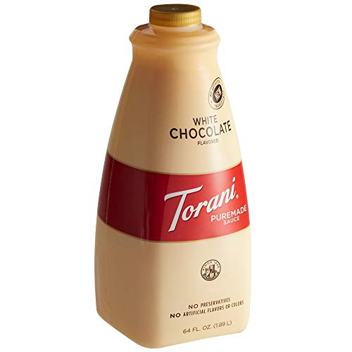 Torani Puremade Sauce White Chocolate Flavor GMO Free amp Gluten Free 64 Fl Oz 189 L