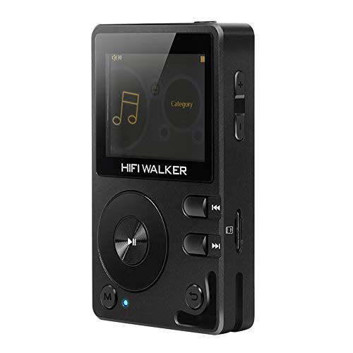 HIFI WALKER H2, High-Res MP3 Player mit Bluetooth, DSD DAC OTG, Verlustfreier Hochauflösender Musik Player, Tragbarer Audioplayer mit Speicherkarte und HD Kopfhörern, Unterstützt bis zu 256 GB