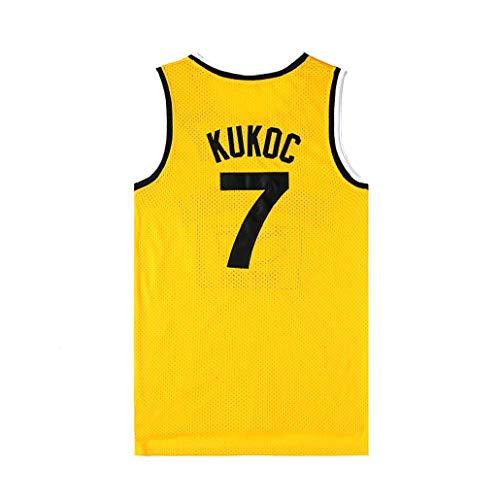 Mens Basketball Jersey # 14 Kukoc Movie Version, Jugoplastika Jugoslawien, Jugendkult Retro Auflage Vintage-Jugend-Basketball-Weste (Color : Yellow, Size : L)