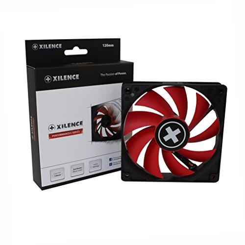 Xilence Performance C Serie | Gehäuselüfter | XF039 | 3Pin | 120 mm | rot/schwarz