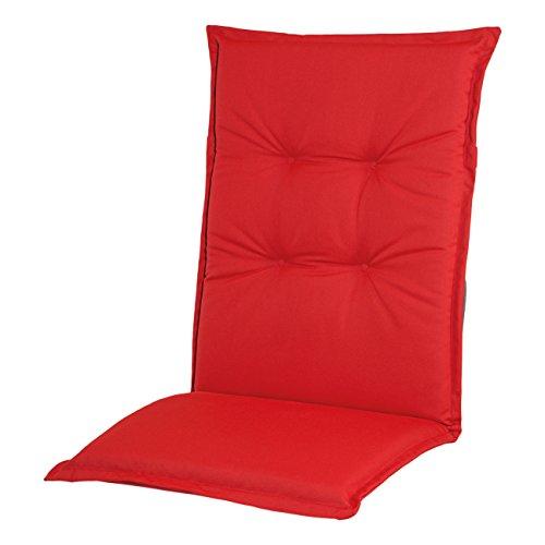 Adlatus-Kühnemuth - Gartenstuhlauflage - Polsterauflage - Sitzauflage - Classic Dessin 101, Farbe: rot (Mittellehner Auflage 110 Gesamtlängex50 cm Breite)