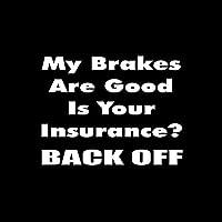 ステッカー剥がし 15.5cm * 12cm私のブレーキは良いあなたの保険は面白いビニール車のステッカーデカールの装飾を除いた保険 ステッカー剥がし (Color Name : Silver)