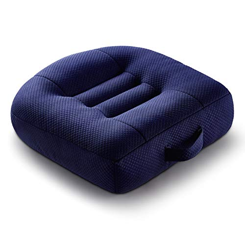 Car Boost Seat Cushion, Angle Lift Seat Cushions, Portable Breathable Mesh, Effectively Increase The Field of View by 12cm, Ideal for Office, Home,Blue