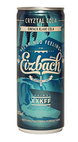 24x Eizbach Cryztal Cola Dosen - Klare Kola - Durchsichtige Cola - Oldschool Limo - inkl. 6€ Pfand (24x0,25l)