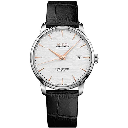 Mido Men's Baroncelli Chronometer Silicon 40mm Leather Band Steel Case Automatic Watch M027.408.16.031.00