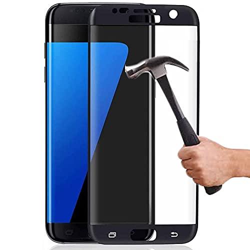 Lapinette Verre Trempé Intégral Compatible avec Samsung Galaxy S7 Edge - Protection Ecran Verre Trempé Galaxy S7 Edge Intégral - 9H Force Glass - Protection Verre Trempe Couverture Complète