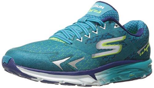 Skechers Performance Women's Go Run Forza Los Angeles 2016 Running Shoe,Teal,6 M US