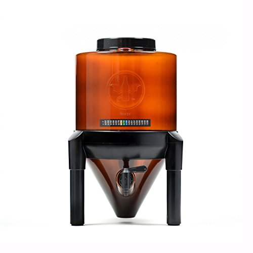 BrewDemon Conical Fermenter by Demon Brewing Company - Clear - NO NEED TO SIPHON 25% Heavier Duty Beer-Cider-Mead-Wine-Kombucha Fermenter Brewing System