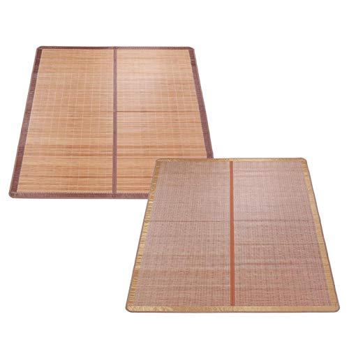 VINGVO Colchones de bambú, tapete de Verano Fresco de bambú sin Espinas, Tratamiento de carbonización de Alta Temperatura Tapete de Verano Fresco Diseño(120 * 190cm)