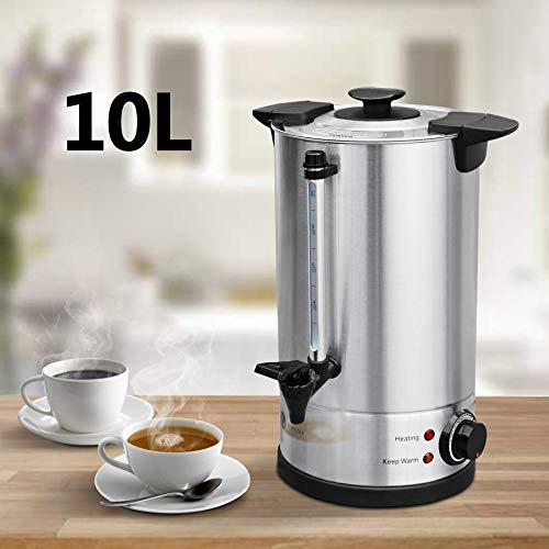 Lillyvale 10 Litre Electric Stainless Steel Catering Hot Water Boiler Tea Urn Commercial