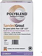 CUSTOM BLDG PRODUCTS Polyblend Sanded Grout Linen #122, 7 Lb