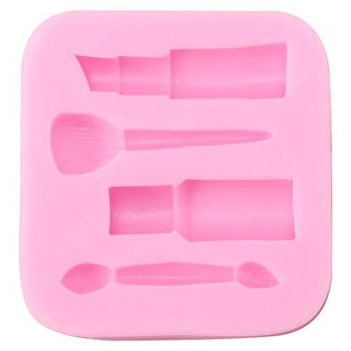 Moldes de silicona Herramientas creativas de maquillaje y lápiz labial 3D Forma Moldes de silicona Molde de pastel de fondant Moldes de chocolate Herramientas de fabricación de decoración de bricolaje