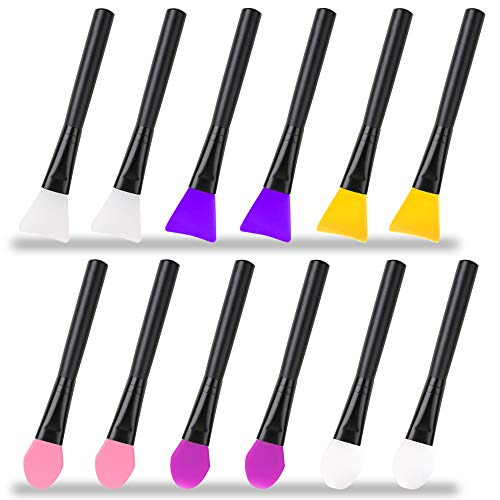 AIFUDA 12 pinceles mágicos de silicona de resina epoxi aplicadores para pintura DIY mezcla y difusión a vasos de purpurina, vasos acrílicos, taza