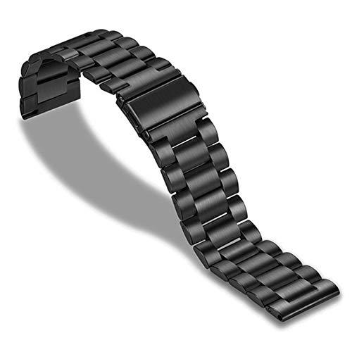DFKai1run Correa de Acero Inoxidable, 20/22 Mm Banda De Acero Inoxidable Reloj Galaxy Reloj ForClassic 42mm 46mm Reloj Smart Watch Band Deportes de Moda (Color : Negro, Size : S2 Classic)