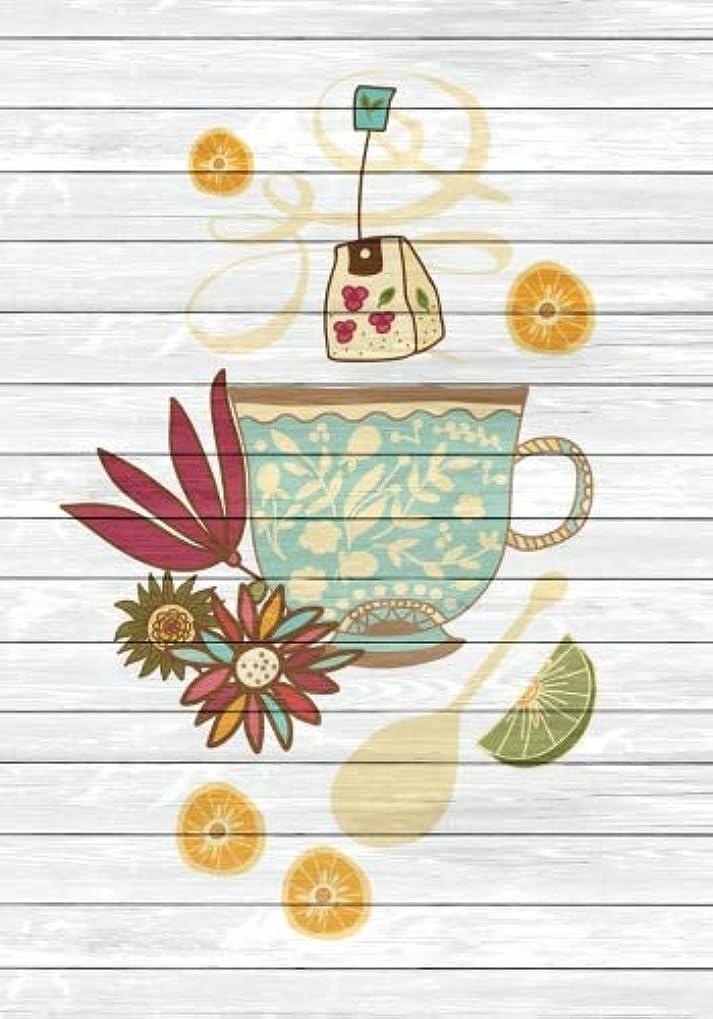 四回上院器用Tea Time Creative Journal 1: (7 x 10)(Dot Grid) Blank Journal Notebook Organizer Planner Sketchbook Gratitude Diary Tea Cup Lover Flowers Spices Strainer Fruit Whimsical