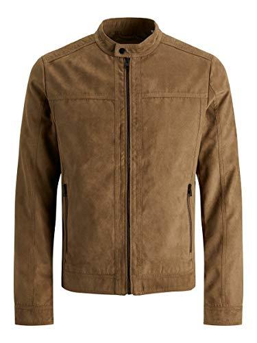 Jack & Jones JJEWARNER Jacket Noos Blouson en Simili-Cuir, Cognac, L Homme