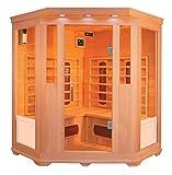 XXL Luxus LED Infrarotsauna Infrarotkabine-Wärmekabine Sauna + Radio USB MP3 .inkl. Lieferung
