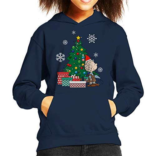 Cloud City 7 Pig Pen Peanuts Around The Christmas Tree Kid's Hooded Sweatshirt